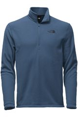The North Face Navy de Hombre modelo M TKA 100 GLACIER 1/4 ZIP Deportivo Poleras