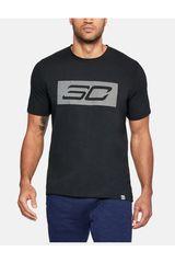 Under Armour Negro de Hombre modelo SC30 Logo Tee Polos Deportivo