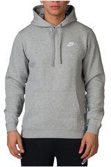 Polera de Hombre Nike Gris m nsw hoodie po flc club