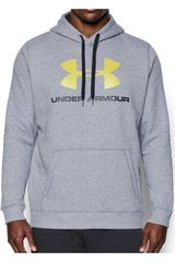 Under Armour Gris de Hombre modelo Rival Fitted Graphic Hoodie Poleras Deportivo