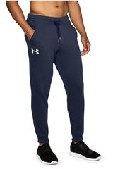 Pantalón de Hombre Under Armour Azul Rival Fitted Tapered Jogger