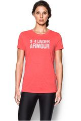 Polo de Mujer Under Armour threadborne ssc twist graph Coral