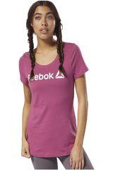 Reebok Guinda de Mujer modelo REEBOK LINEAR READ SCOOP Deportivo Polos