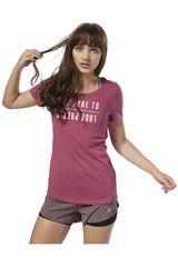 Reebok Guinda de Mujer modelo GS OPP Mirror Tee Deportivo Polos
