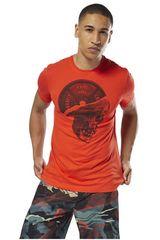 Reebok Rojo de Hombre modelo CF Plated Skull Tee Deportivo Polos