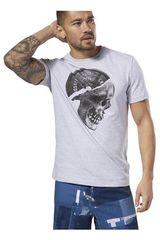 Reebok Blanco de Hombre modelo CF Plated Skull Tee Deportivo Polos