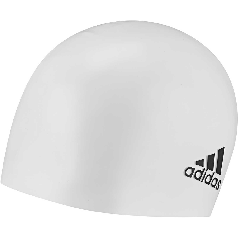 Gorro de natación de Hombre Adidas Blanco sil cp logo 1pc