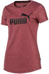 Puma Vino de Mujer modelo ESS+ Logo Heather Tee Deportivo Polos