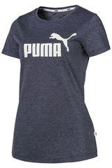 Puma PL/BL de Mujer modelo ESS+ Logo Heather Tee Polos Deportivo