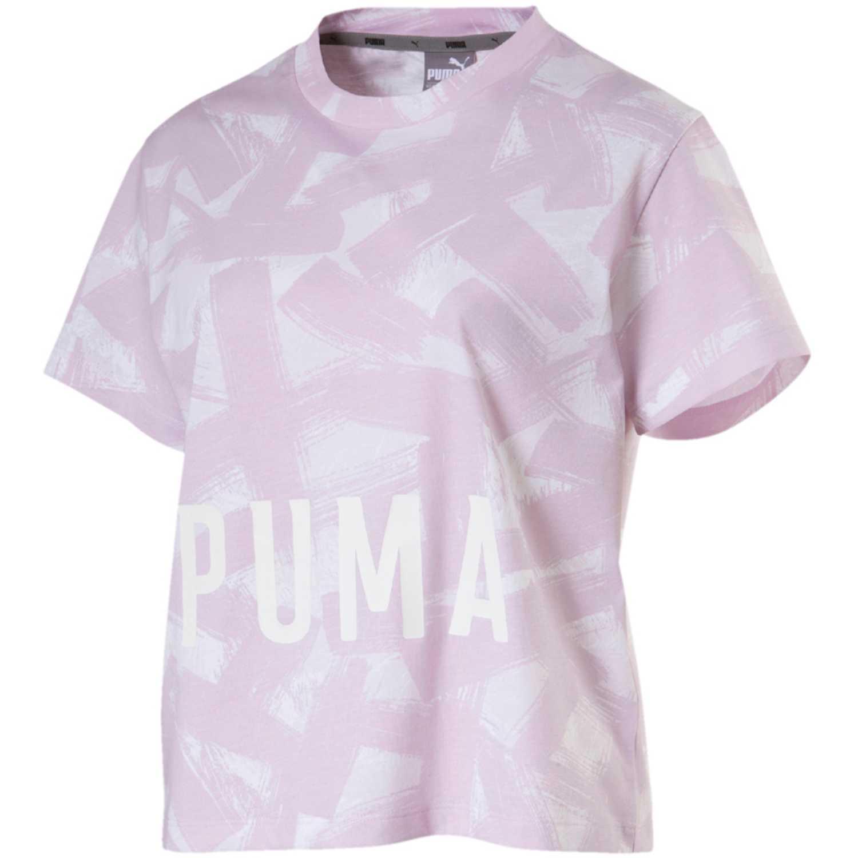 Polo de Mujer Puma Rosado / Blanco fusion cropped aop tee