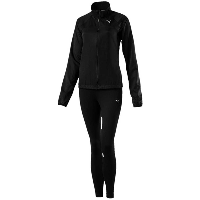 Buzo de Mujer Puma Negro active yogini woven suit