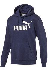 Polera de Hombre Puma Azul / Blanco ESS+ Hoody TR
