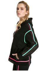 Puma Negro de Mujer modelo Chase Spacer FZ Hoody Deportivo Casacas