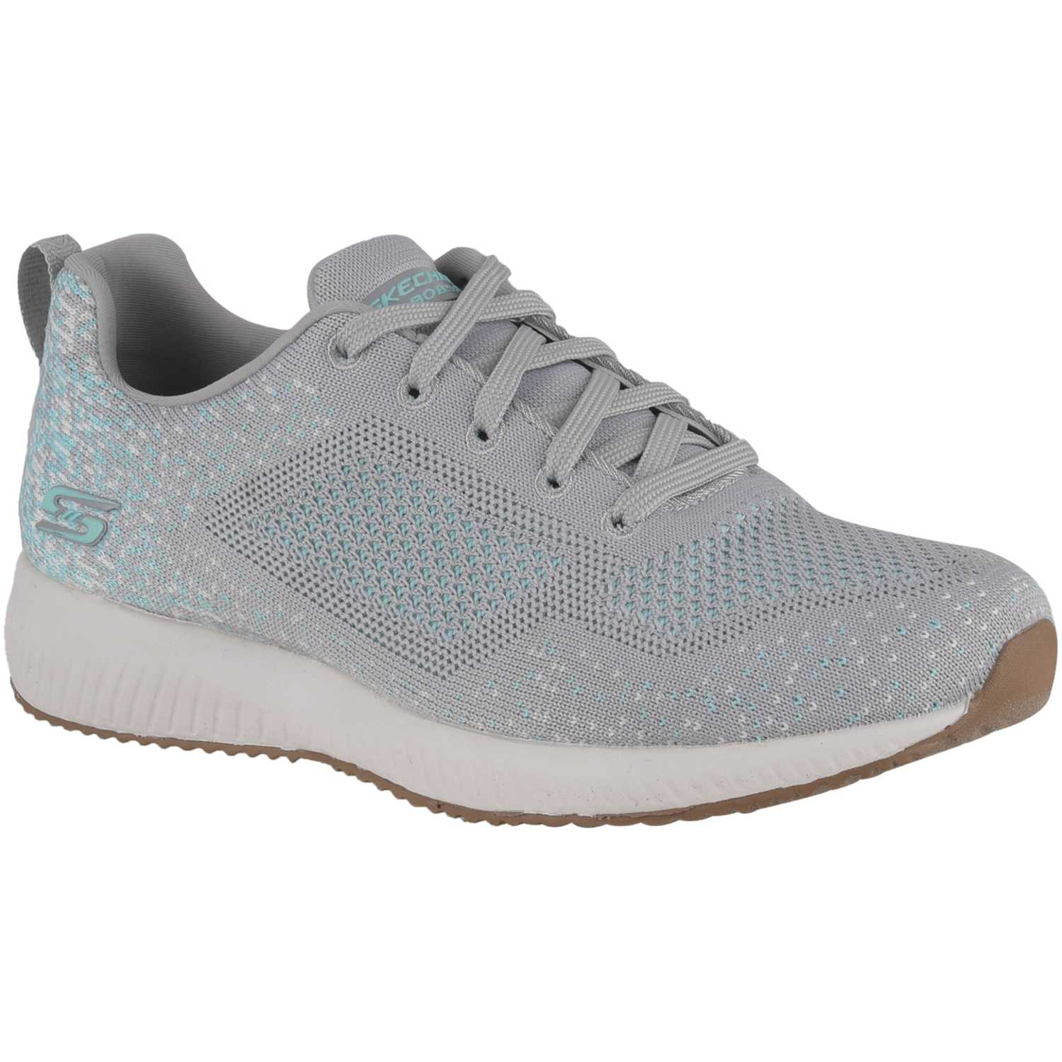Zapatilla de Mujer Skechers Gris / verde bobs squad - awesome sauce
