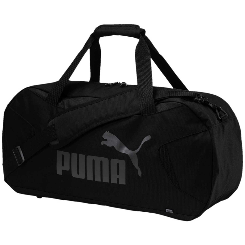 ae5c4696a Maletin Deportivo de Hombre Puma Negro  gris gym duffle bag s ...