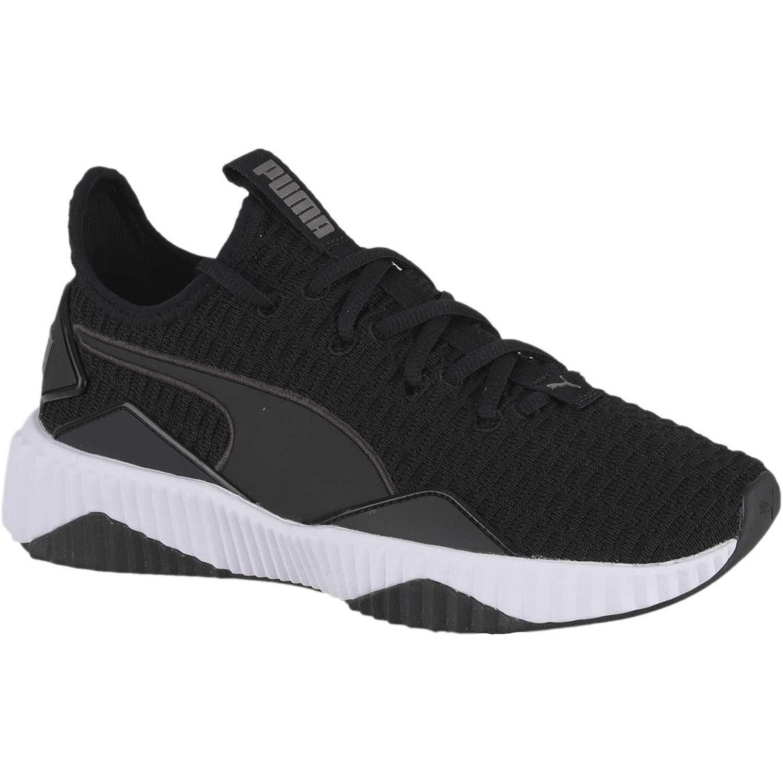 3cec09143 Zapatilla de Mujer Puma negro   blanco defy wn s