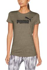 Puma Olivo de Mujer modelo ESS+ Logo Heather Tee Deportivo Polos