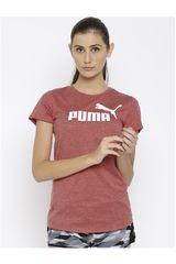 Puma Ladrillo de Mujer modelo ESS+ Logo Heather Tee Deportivo Polos