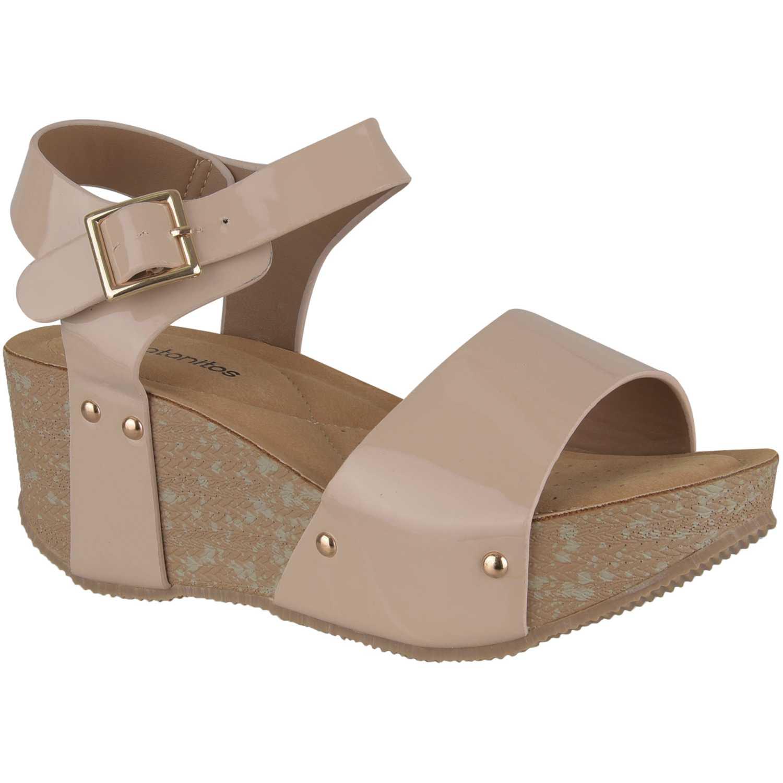 Sandalia de Mujer Platanitos Beige spw 56y4