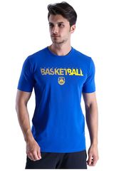 Under Armour Azulino de Hombre modelo Basketball Wordmark SS Polos Deportivo