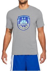 Under Armour Gris de Hombre modelo Basketball Icon SS Polos Deportivo
