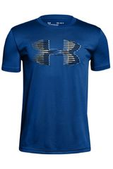 Under Armour Azulino de Jovencito modelo Tech Big Logo Solid Tee Deportivo Polos