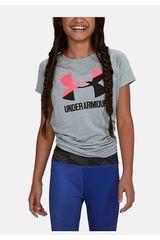 Under Armour Gris de Mujer modelo UA Solid Big Logo SS T Polos Deportivo