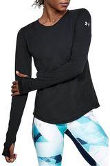 Under Armour Negro de Mujer modelo Threadborne Swyft LS Poleras Deportivo