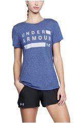 Under Armour Azul de Mujer modelo Tborne Train Grph Twist SSC Polos Deportivo
