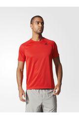 adidas Rojo de Hombre modelo D2M Tee PL Deportivo Polos