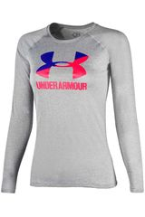 Under Armour Gris de Jovencita modelo Big Logo Long Sleeve Poleras Polos
