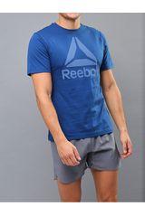 Reebok Azul de Hombre modelo QQR- Reebok Stacked Polos Deportivo