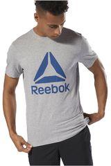 Reebok Gris de Hombre modelo QQR- Reebok Stacked Polos Deportivo