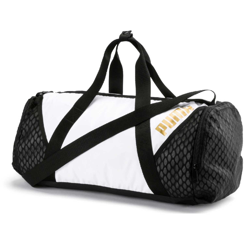3deac0d34 Maletin Deportivo de Mujer Puma Negro / blanco ambition barrel bag ...