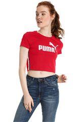 Puma Rojo / Blanco de Mujer modelo Tape Logo Croped Tee Deportivo Polos