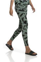 Puma Verde / Negro de Mujer modelo FUSION AOP Leggings Leggins Deportivo