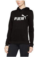 Puma Negro / Blanco de Mujer modelo ESS Logo Hoody FL Poleras Deportivo