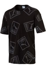 Polo de Hombre Puma Negro Graphic Downtown Tee