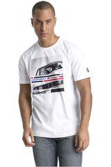 Puma Blanco de Hombre modelo BMW MMS Graphic Tee Deportivo Polos