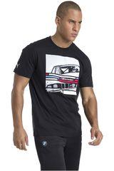 Puma Negro de Hombre modelo BMW MMS Graphic Tee Deportivo Polos
