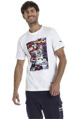Puma Blanco de Hombre modelo RBR Life Graphic Tee Deportivo Polos