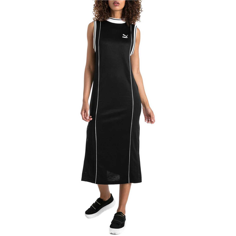 Puma Dress Negro Blanco Retro De Mujer Vestido 4acAqwOga