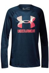 Under Armour Acero de Jovencita modelo Big Logo Long Sleeve Poleras Polos