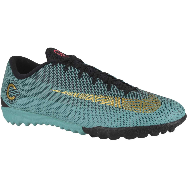 f00df02aa0104 Zapatilla de Hombre Nike Verde vaporx 12 academy cr7 tf