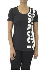 Everlast Negro / Blanco de Mujer modelo POLERA STRONG Deportivo Polos