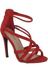 Platanitos Rojo de Mujer modelo SV 4699 Vestir Tacos Sandalias