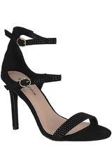 Platanitos Negro de Mujer modelo FS 4478 Fiesta Sandalias Tacos