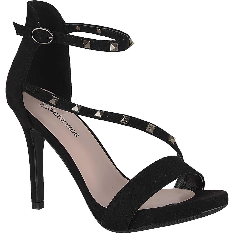 Sandalia Plataforma de Mujer Platanitos Negro svp 8686