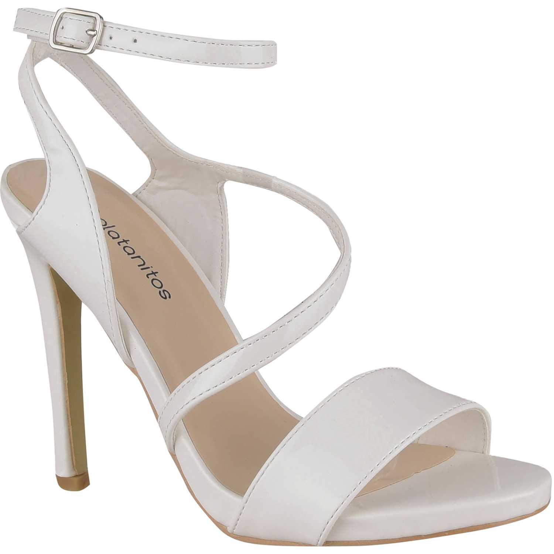 Sandalia de Mujer Platanitos Blanco sv 9816