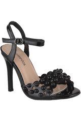 Platanitos Negro de Mujer modelo SV 5828 Tacos Sandalias Vestir